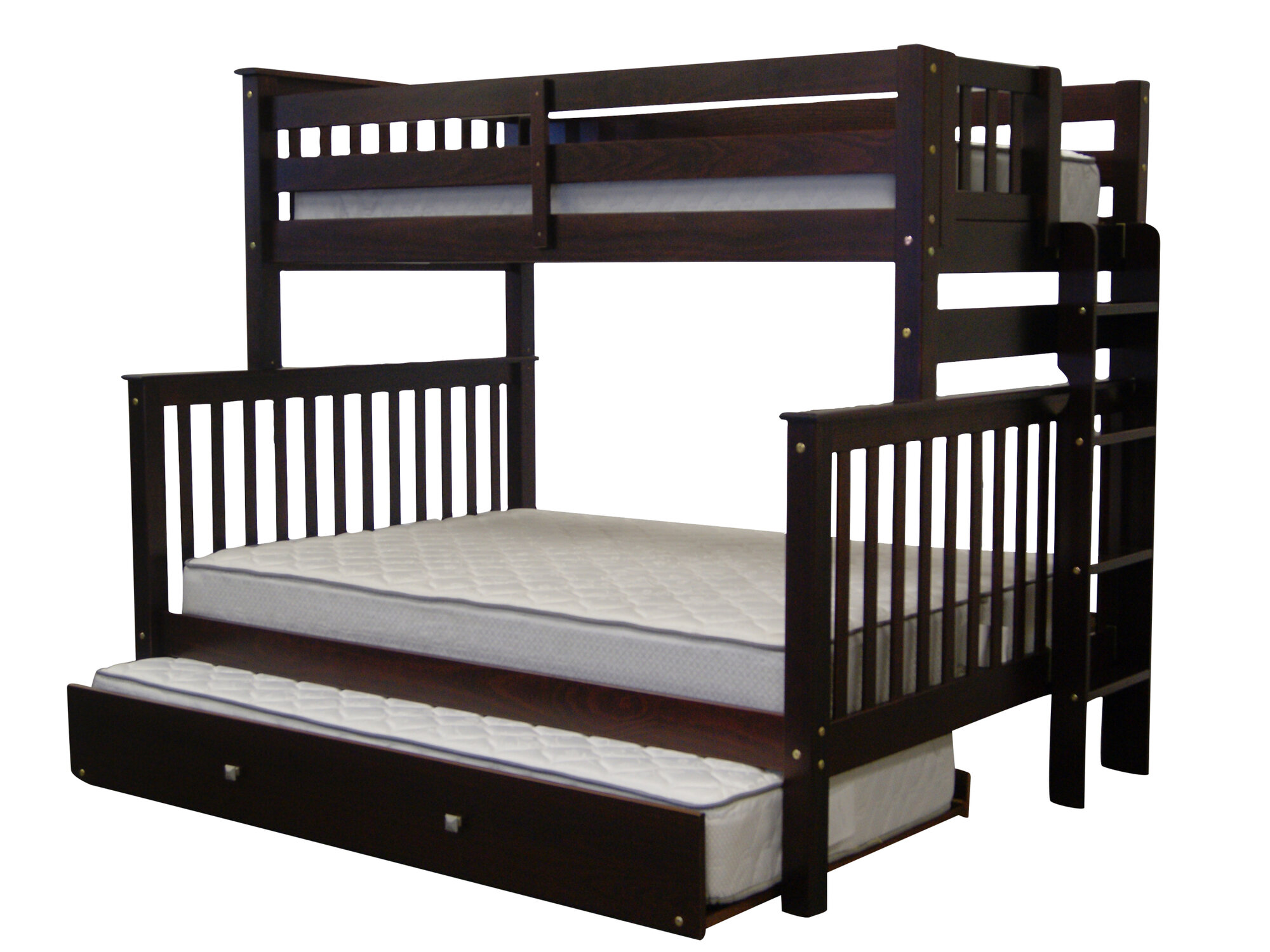 Bedz King Mission Twin Over Full Bunk Bed With Trundle EBay