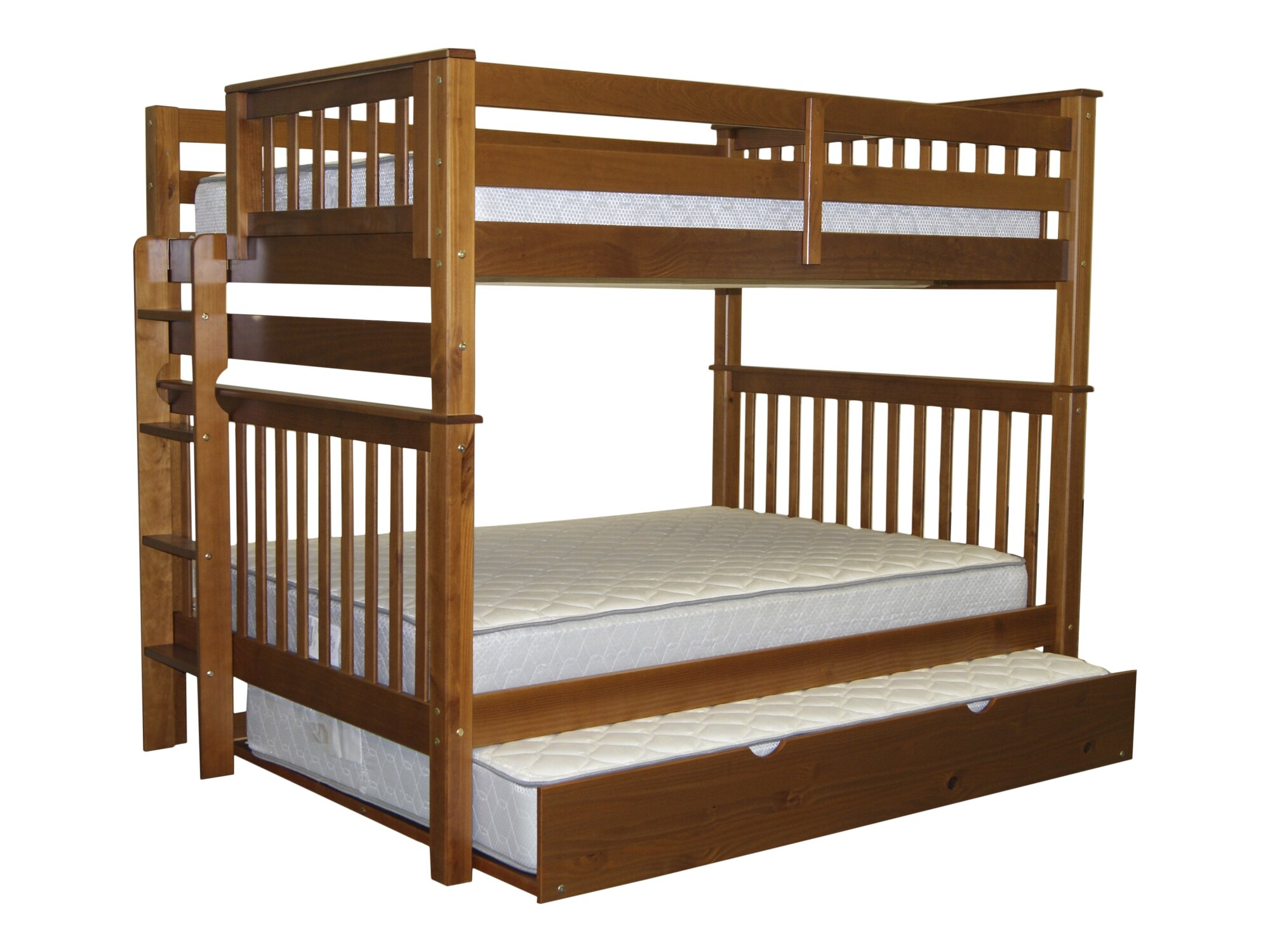 bedz king mission full over full bunk bed with trundle ebay. Black Bedroom Furniture Sets. Home Design Ideas