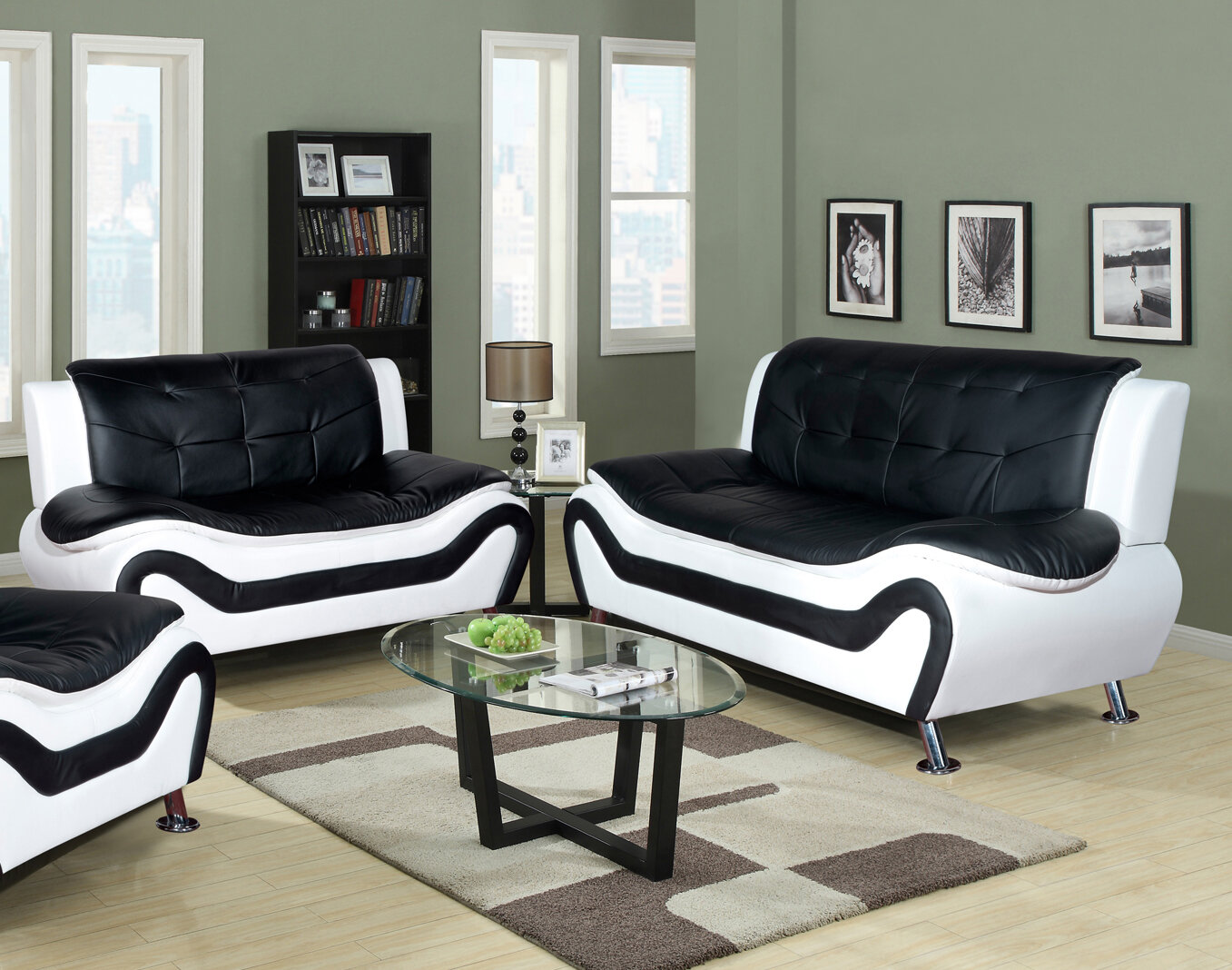 leather living room sets beverly fine furniture linda leather sofa and loveseat set 16655 | 1