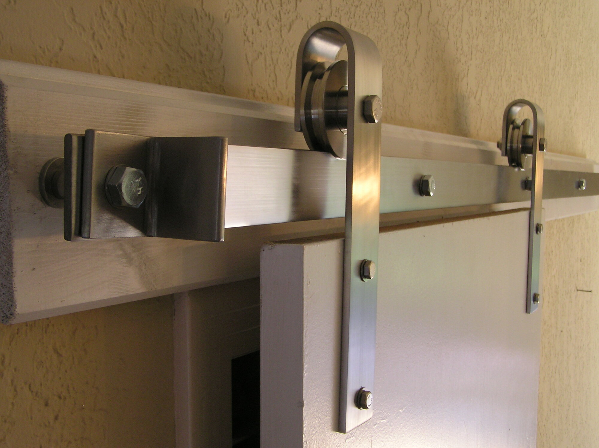 Agave ironworks barn door rolling hardware kit agir1076 ebay for Rolling barn door hardware