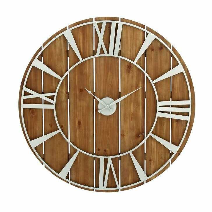 cole grey oversized metal wood 36 quot wall clock clrb2186 ebay