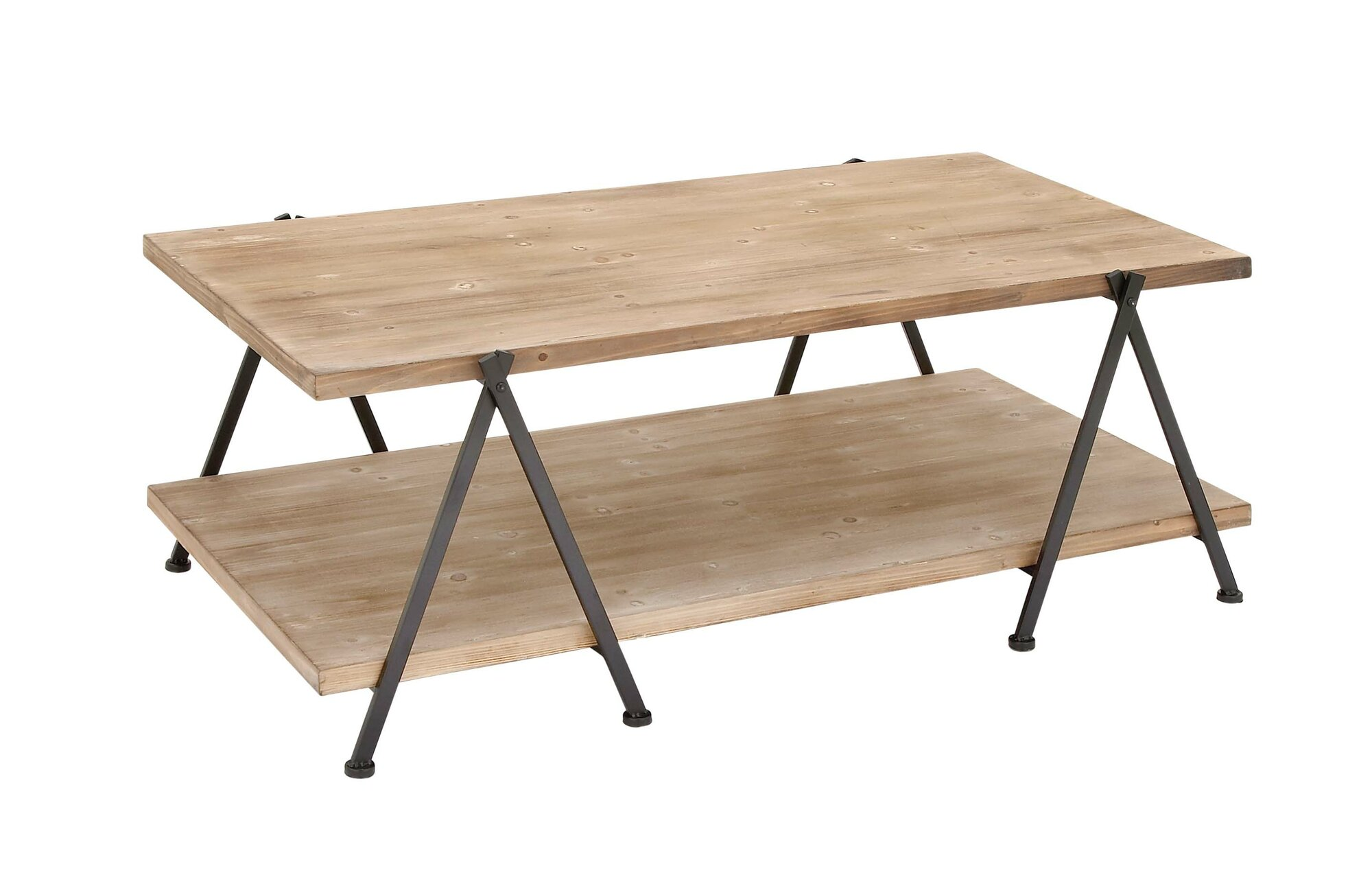 Cole grey wood and metal coffee table cogr9941 ebay for Gray wood and metal coffee table