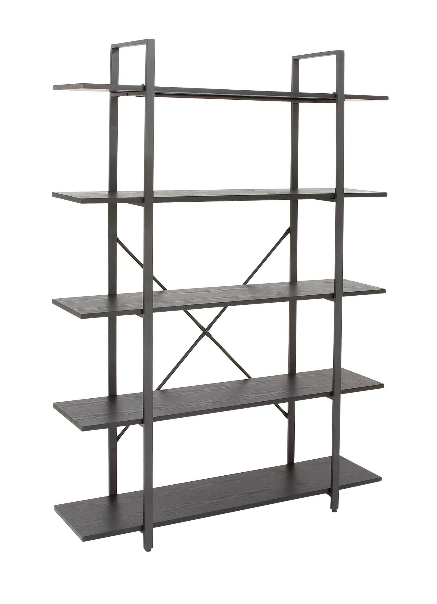 cole grey wood and metal 70 etagere bookcase ebay. Black Bedroom Furniture Sets. Home Design Ideas