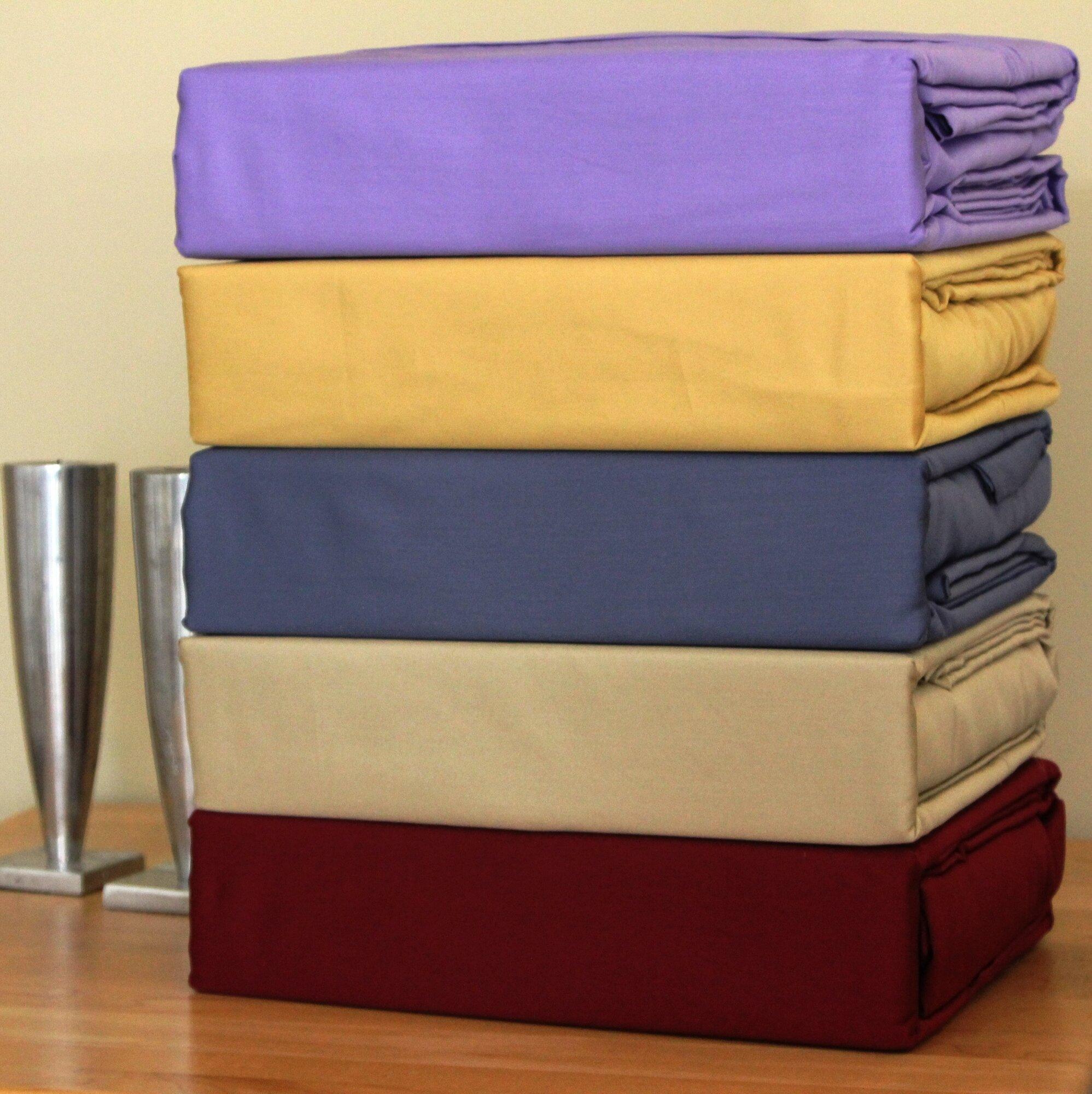 bed tite solid 500 thread count deep pocket sheet set ebay. Black Bedroom Furniture Sets. Home Design Ideas