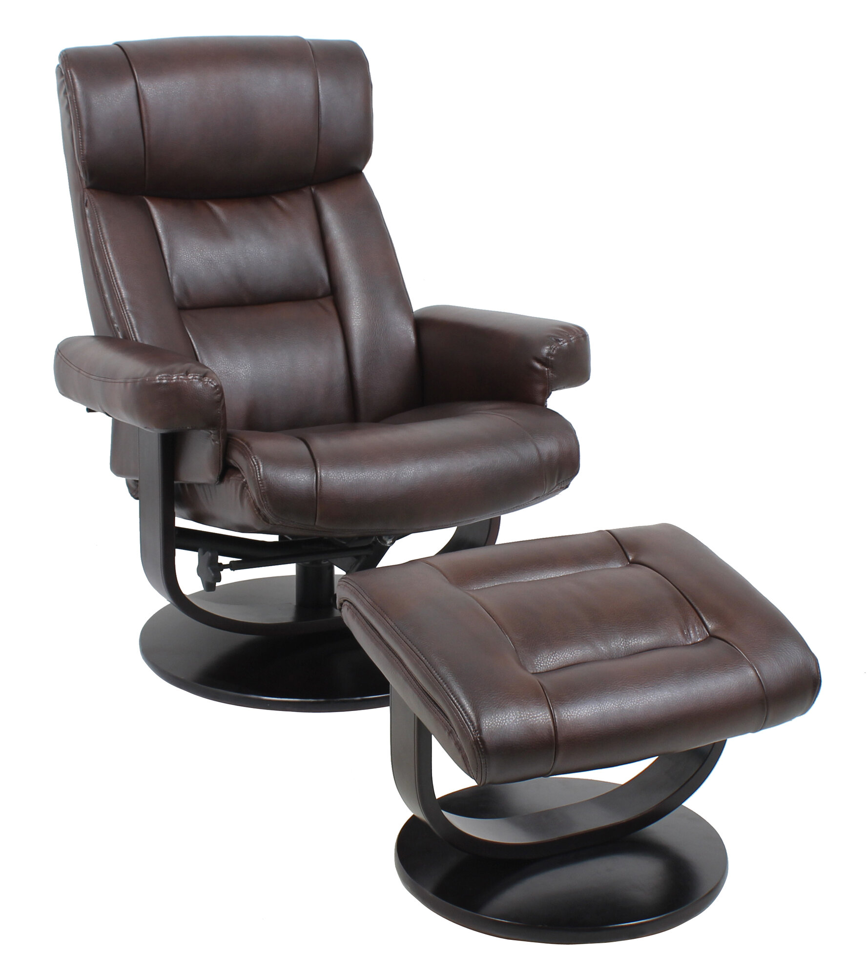 global furniture leather recliner and ottoman ebay
