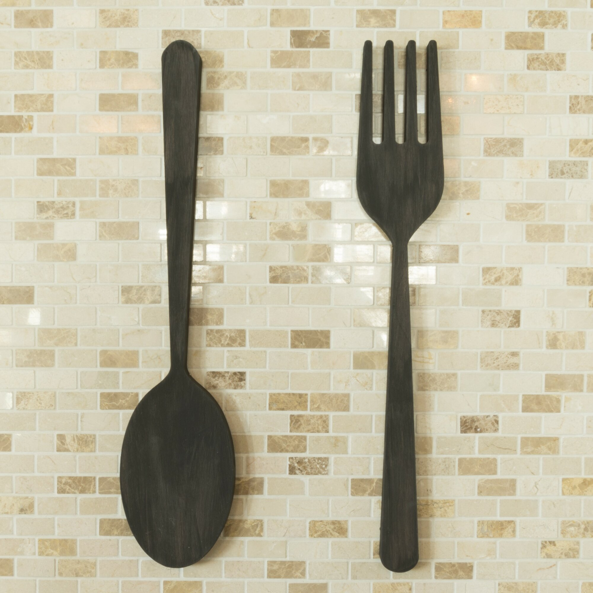 Word Billy 2 Piece Fork And Spoon Wall D Cor Set Ebay