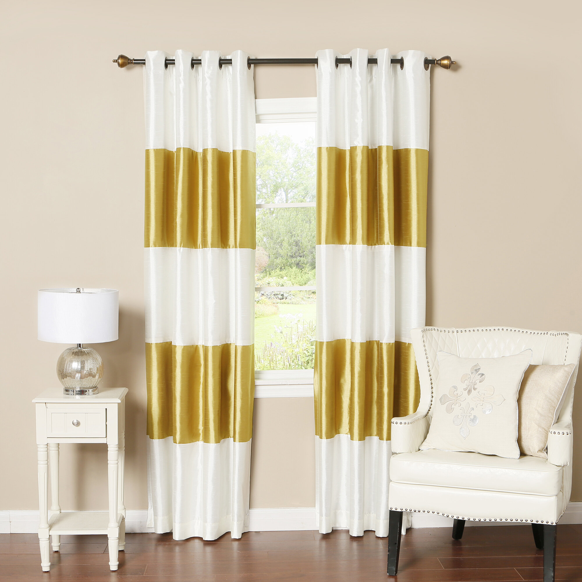 best home fashion inc striped blackout thermal curtain