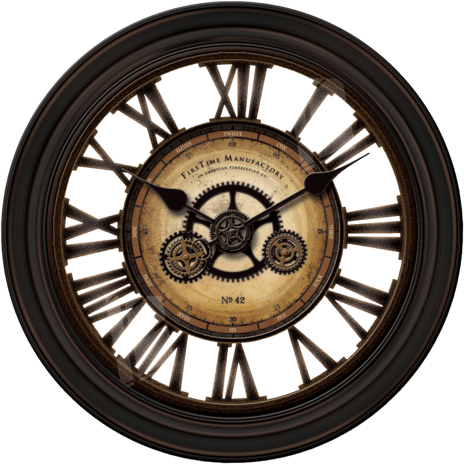 FirsTime Oversized 24 Gear Works Wall Clock EBay