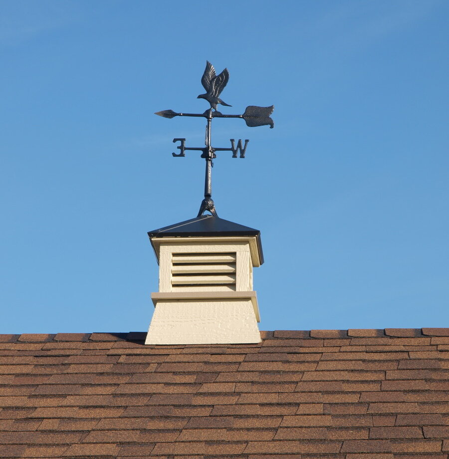 Ez fit sheds wood cupola with eagle weathervane ebay for Cupola with weathervane