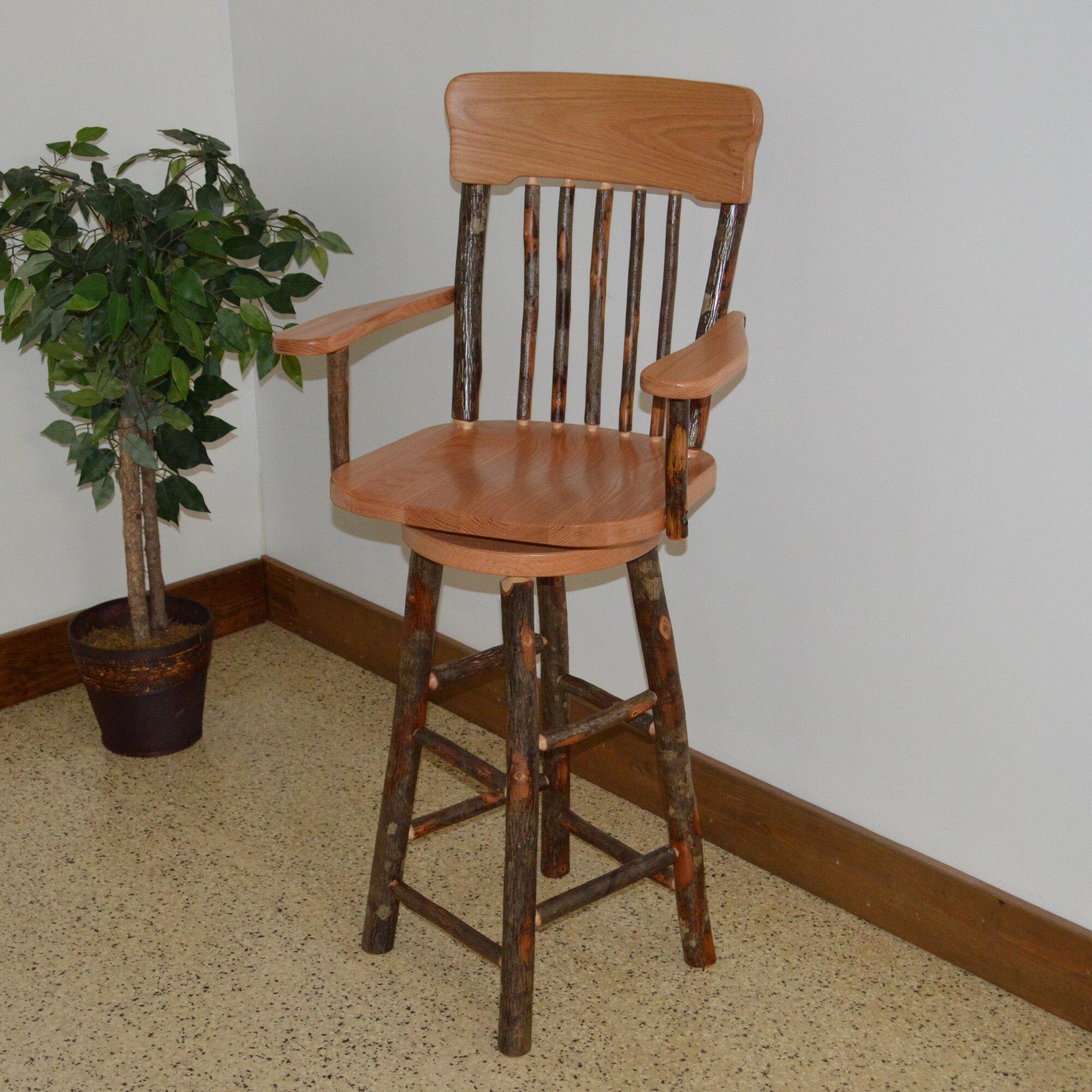 A L Furniture Hickory 29 Swivel Bar Stool EBay