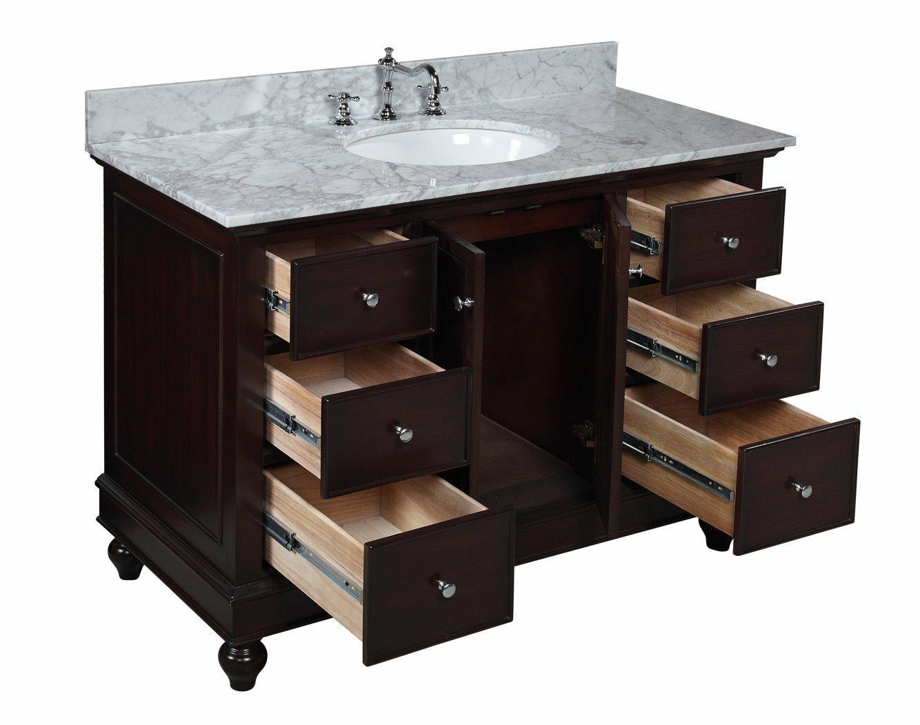 kitchen bath collection bella 48 quot single bathroom vanity