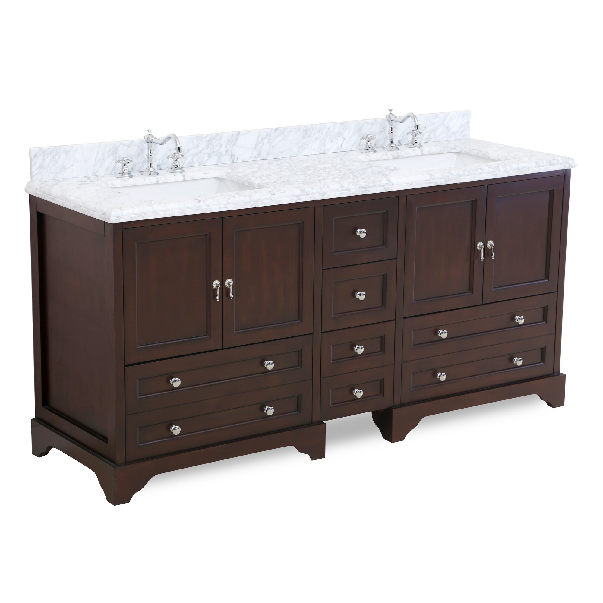"72 Madison Double Vessel Sink Vanity: Kitchen Bath Collection Madison 72"" Double Bathroom Vanity Set"