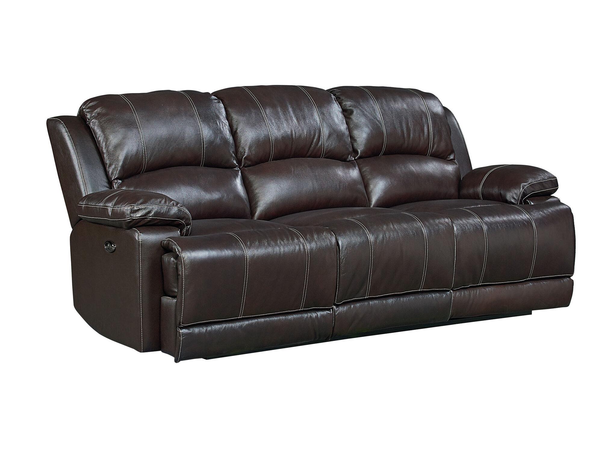 Red Barrel Studio Garlock Leather Reclining Sofa   eBay