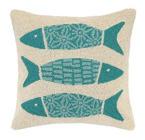 Kate nelligan pattern fish cotton throw pillow ebay for Fish throw pillows