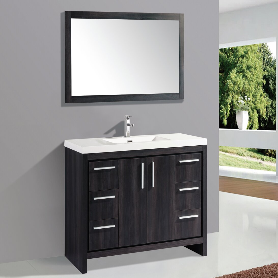 Mtd vanities miami 48 single sink modern bathroom vanity - Modern vanity mirrors for bathroom ...