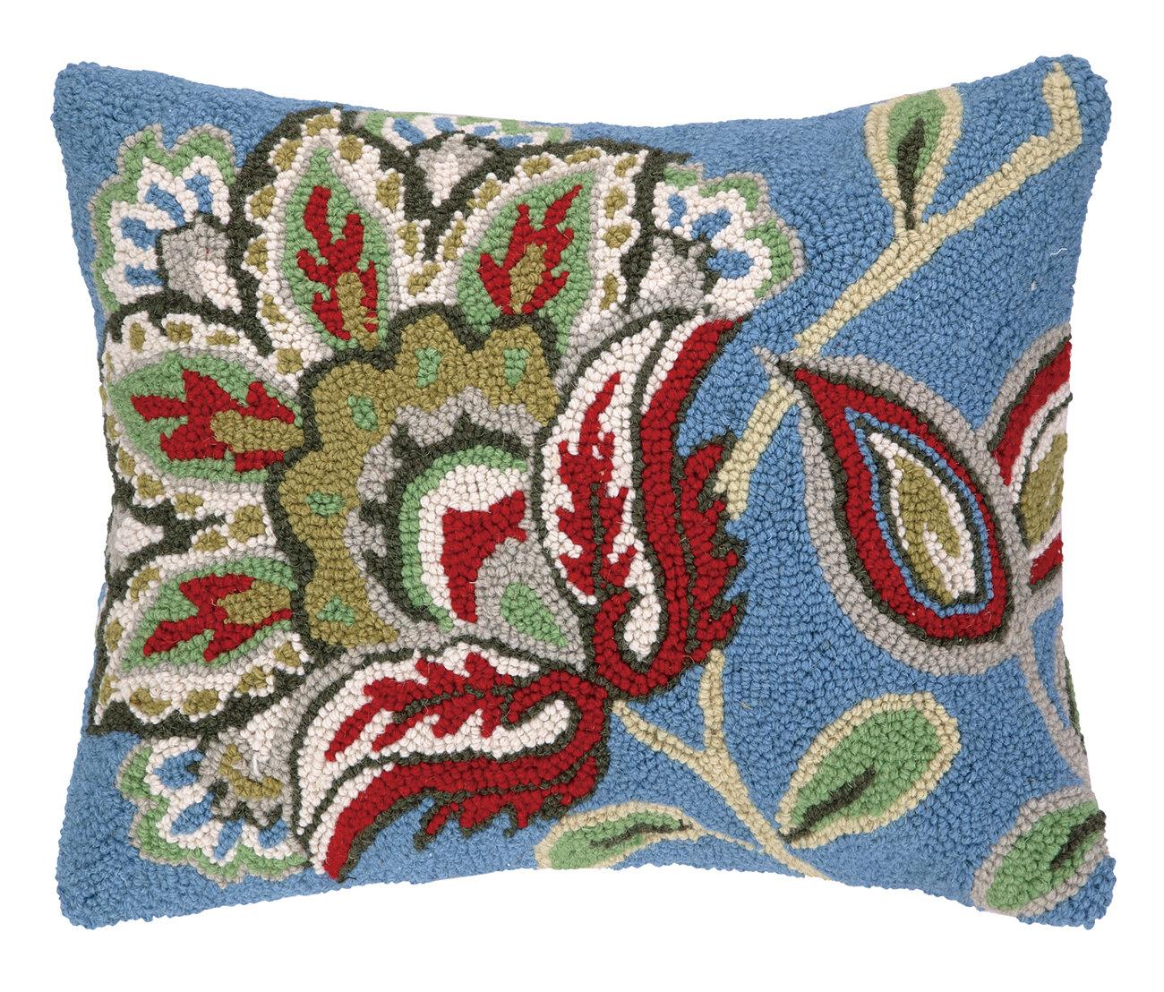 Jacobean Throw Pillows : Laurel and Mayfair Jacobean Hook Wool Throw Pillow eBay