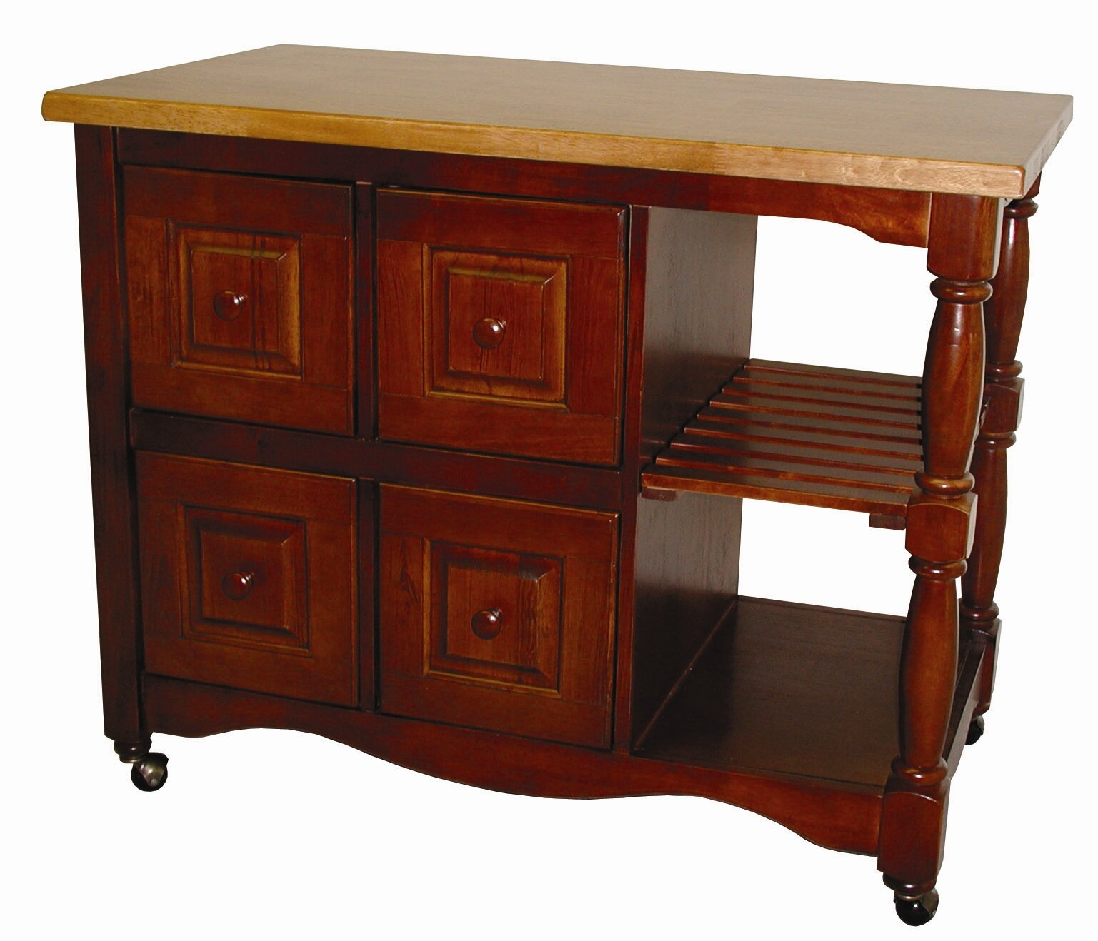 Sunset Trading Sunset Selections Kitchen Island With Butcher Block Ebay