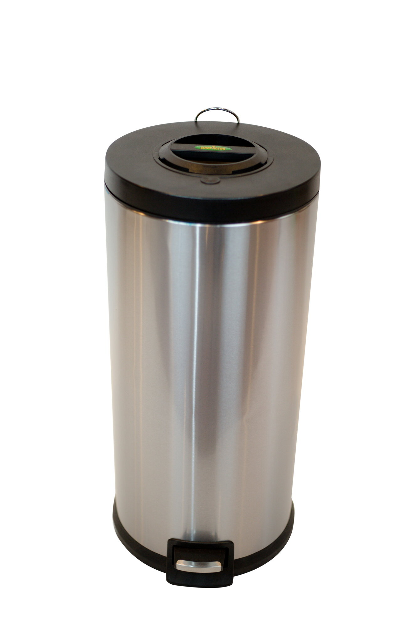 arista compactor step lid 7 9 gallon step on stainless steel trash can ebay. Black Bedroom Furniture Sets. Home Design Ideas