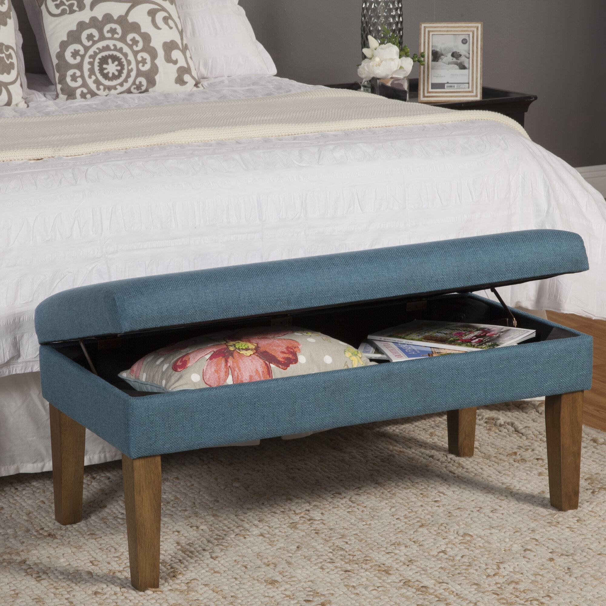 Homepop Homepop Decorative Storage Bench Ebay