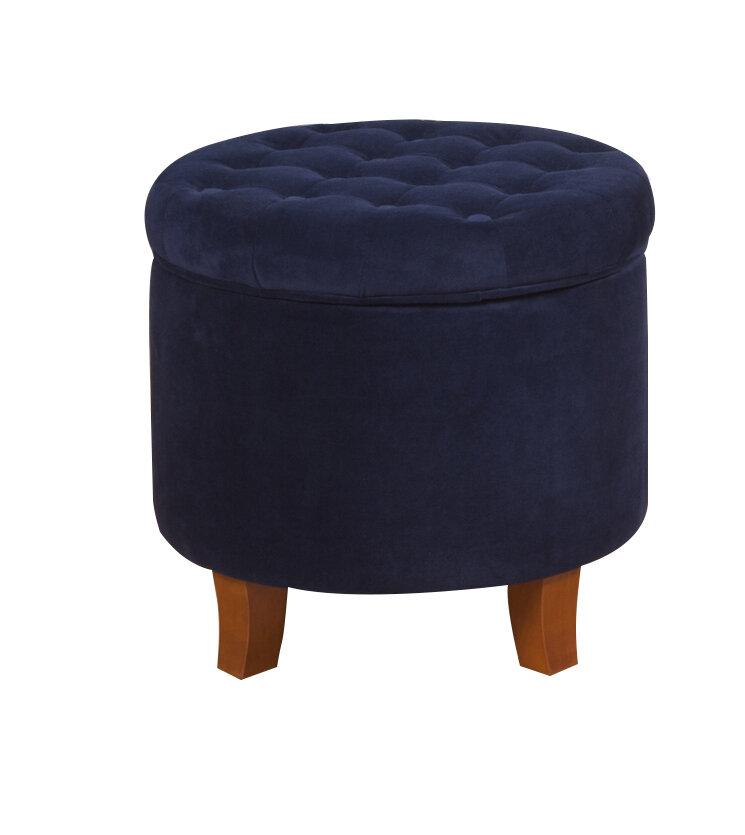 Homepop Morgan Round Storage Ottoman Ebay