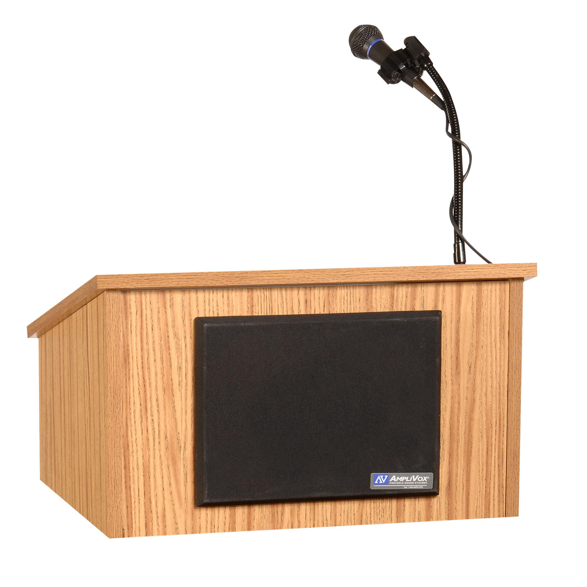 Amplivox Sound Systems Table Top Lectern Medium Oak