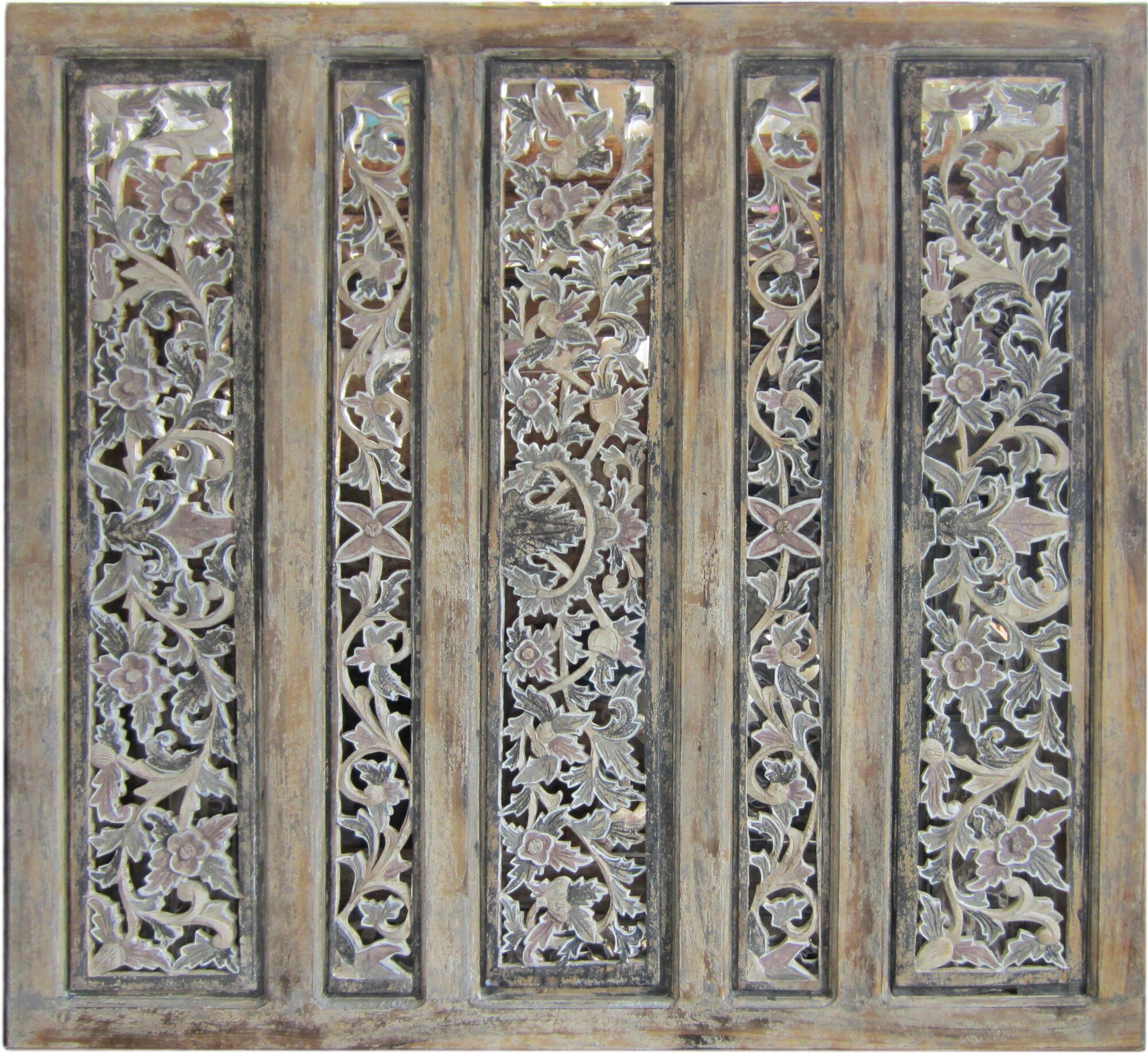 Asian loft quot balinese carved panel room divider