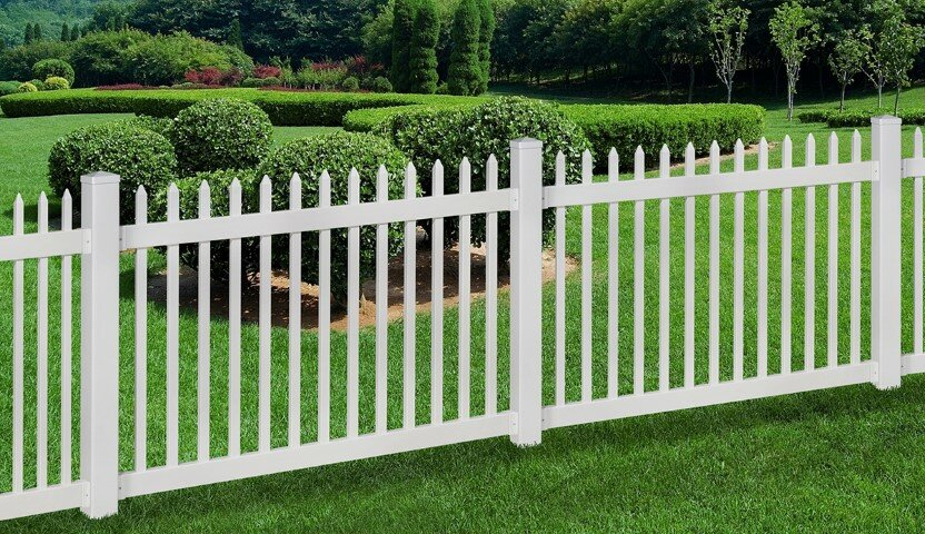 Wam Bam No Dig Fence Nantucket Vinyl Picket Fence With