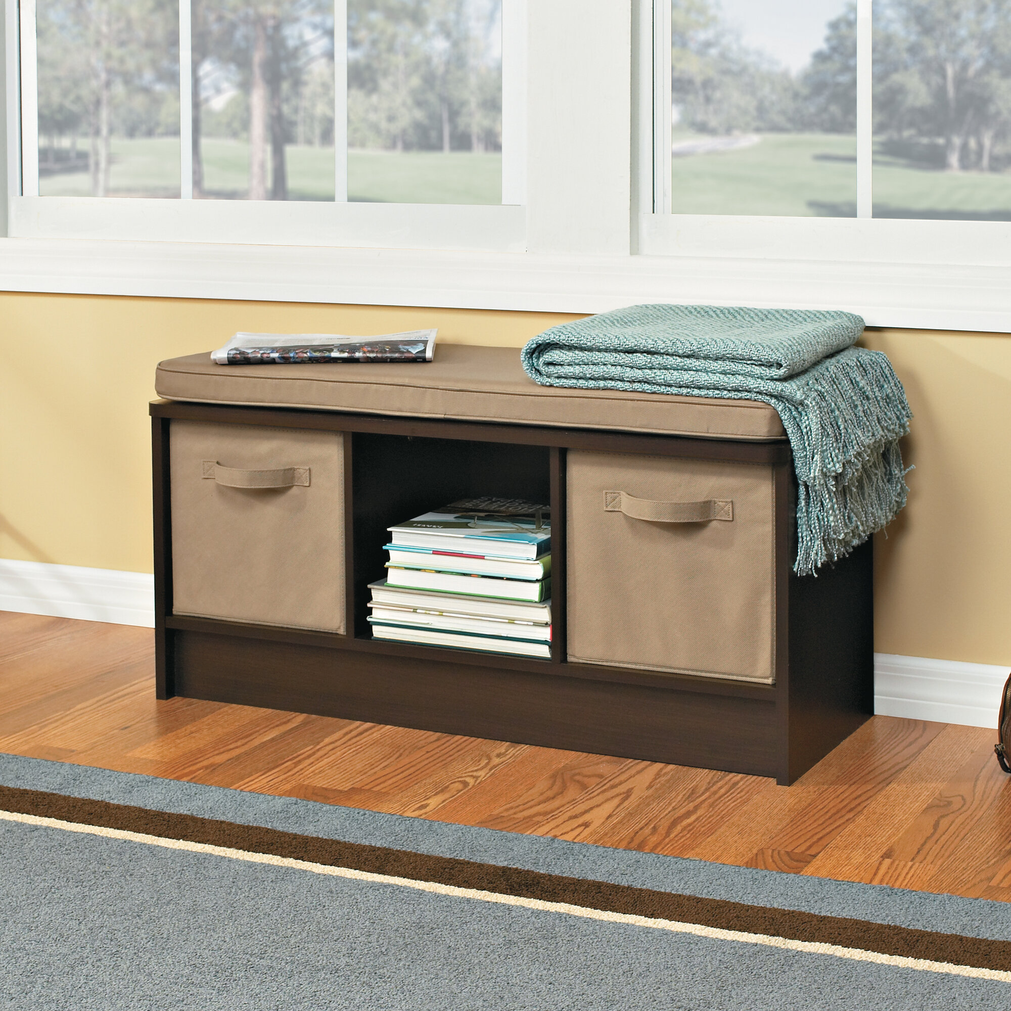 Amazing photo of Details about Wood Storage Entryway Bench with #997932 color and 2000x2000 pixels