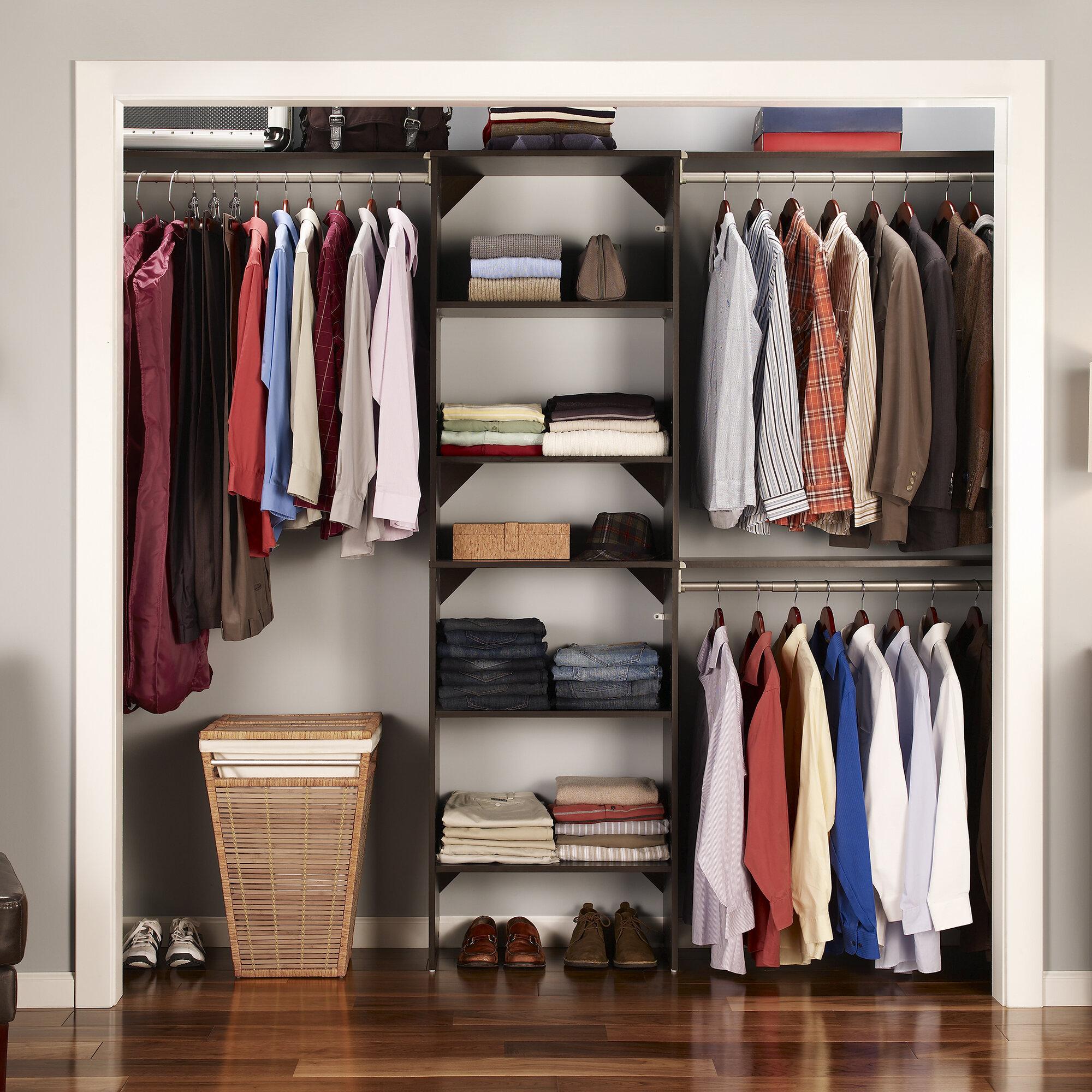 Closetmaid suitesymphony closet organizer starter kit for Where to buy closet organizers