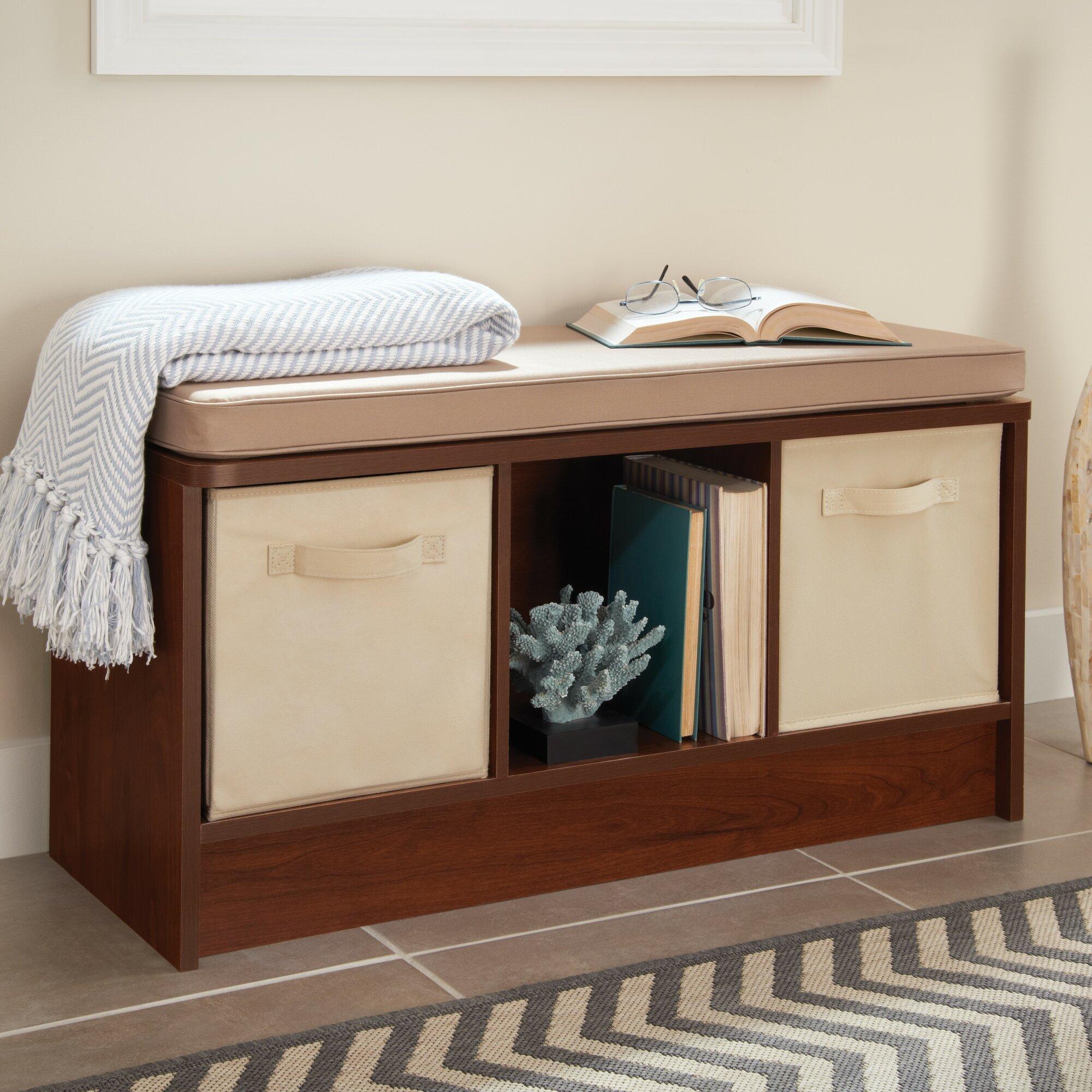 Closetmaid Cubeicals Upholstered Storage Entryway Bench Ebay