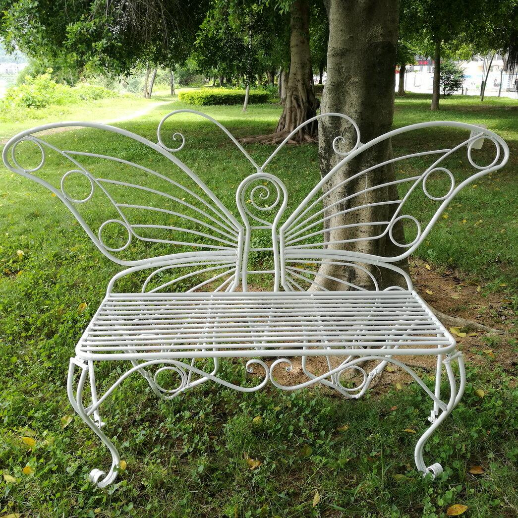 Hi-Line Gift Garden Decor Butterfly Bench 60 X 18 X 42in White ...