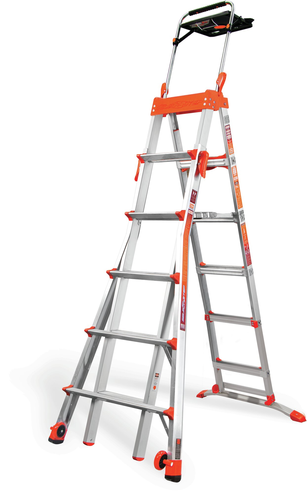 6 08 Ft Aluminum Step Ladder With 300 Lb Load Capacity Ebay