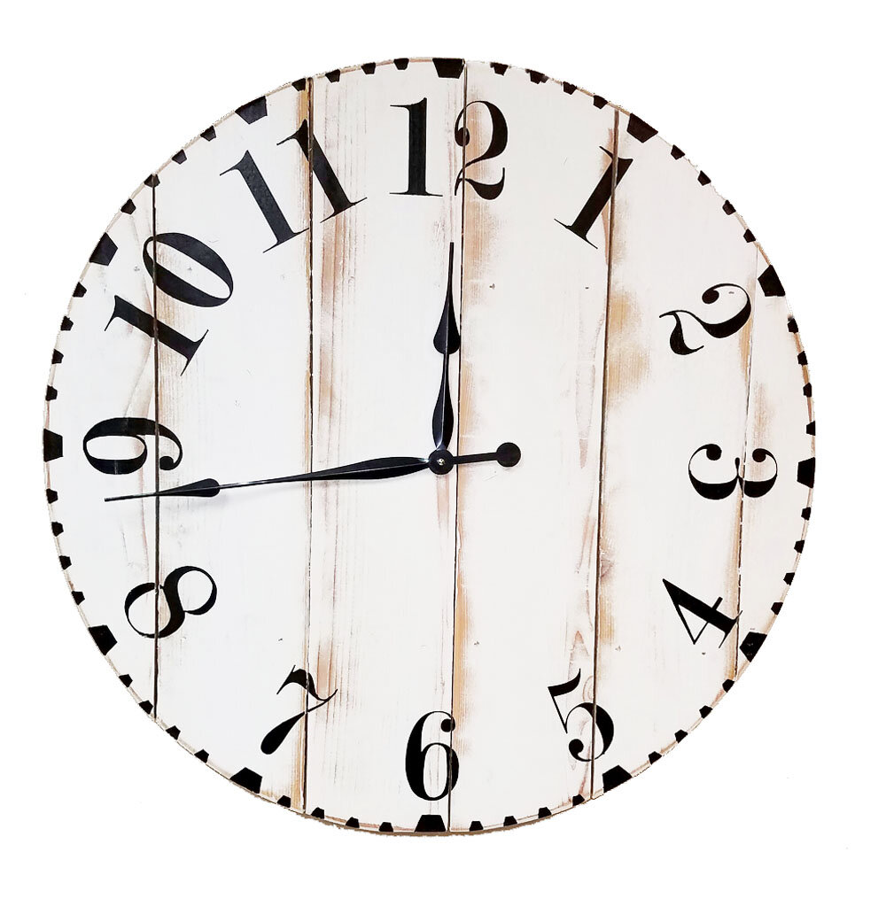 Brandt works llc oversized modern distressed 36 wall - Oversized modern wall clock ...