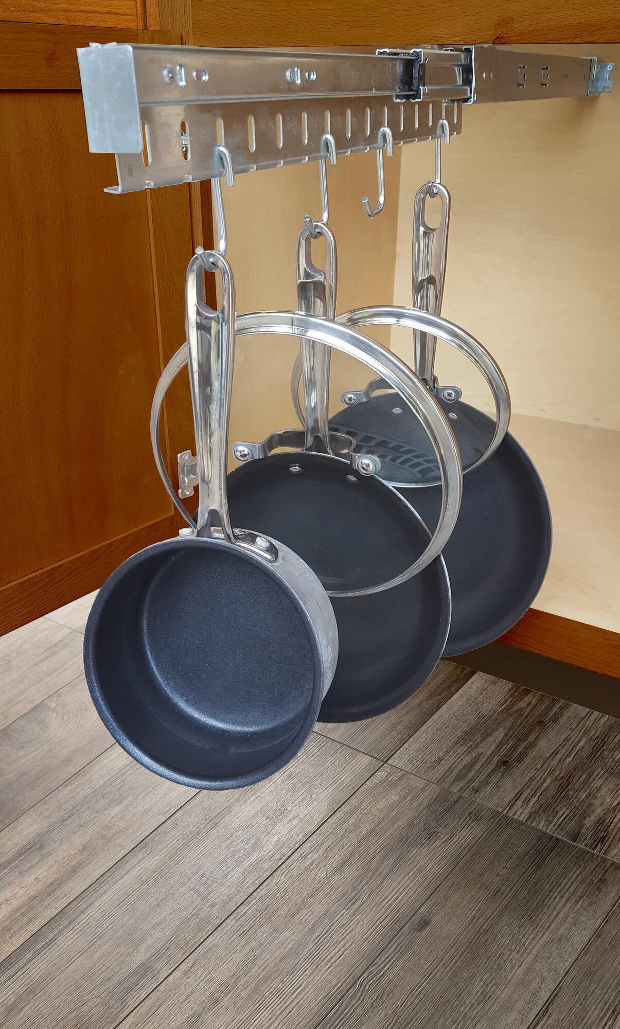 Ja Marketing Kitchen Cabinet Pull Out Horizontal Pot Rack