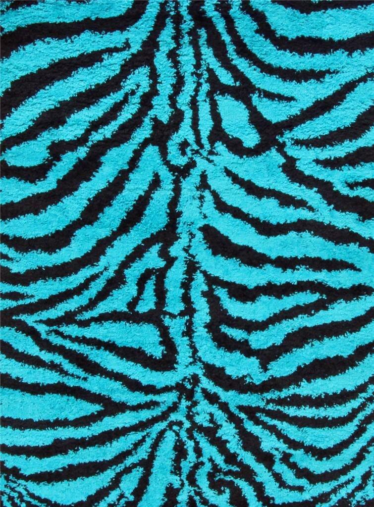 persian rugs tobis modern shag zebra turquoise area rug ebay