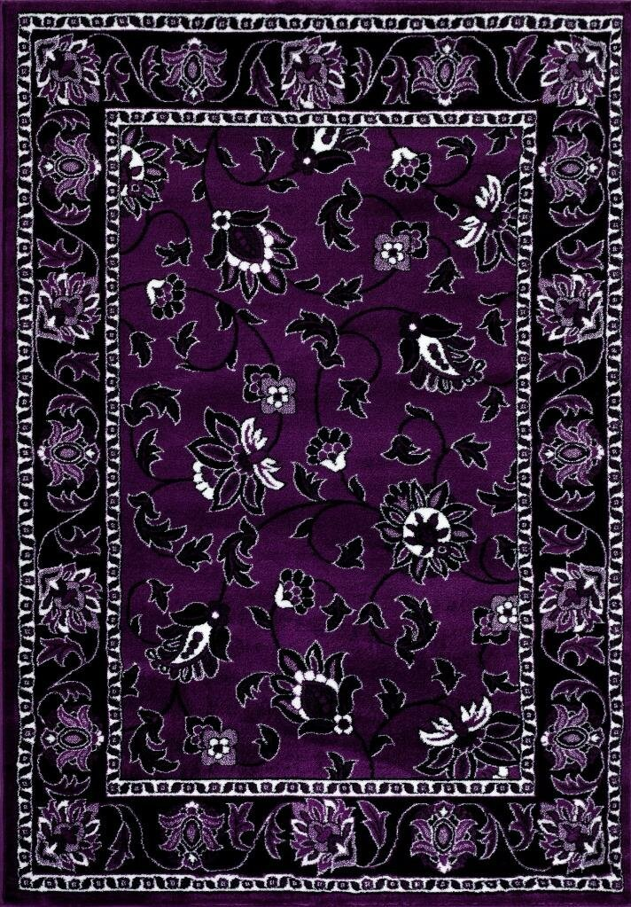Purple area rug 5x7 for Rugs with purple accents