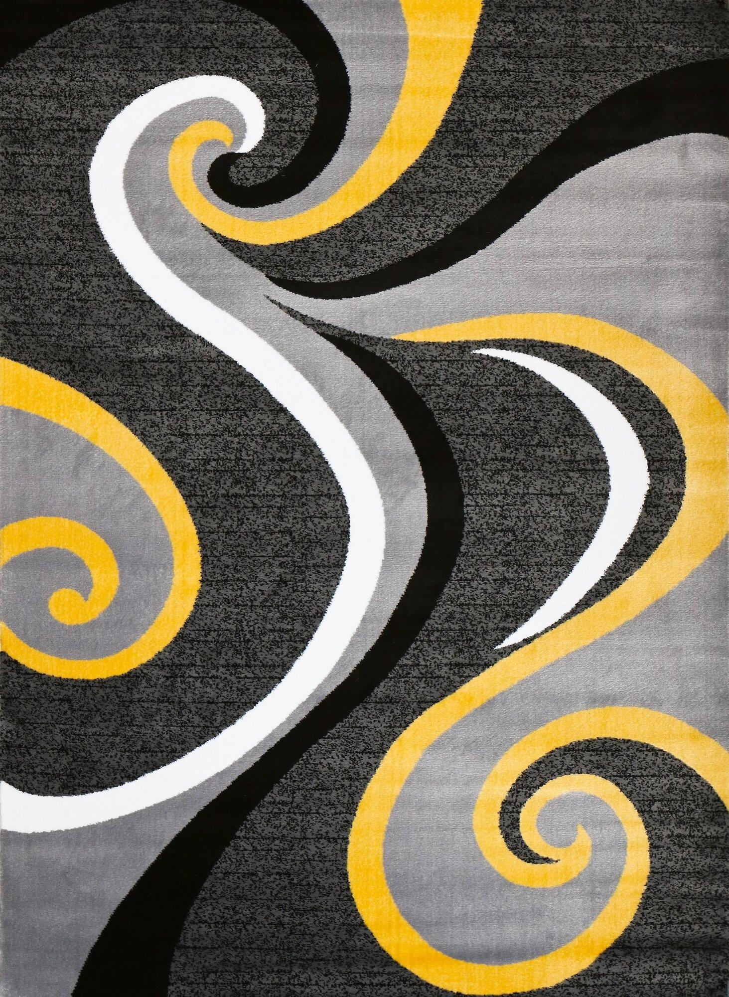 Persian Rugs Modern Yellow Area Rug Ebay