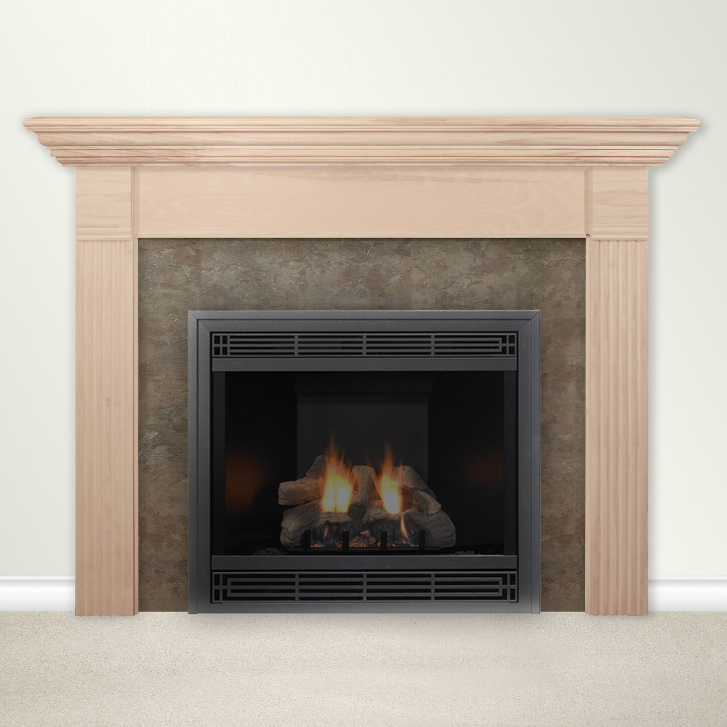 housewarmer fireplace mantel surround with shelf ebay. Black Bedroom Furniture Sets. Home Design Ideas