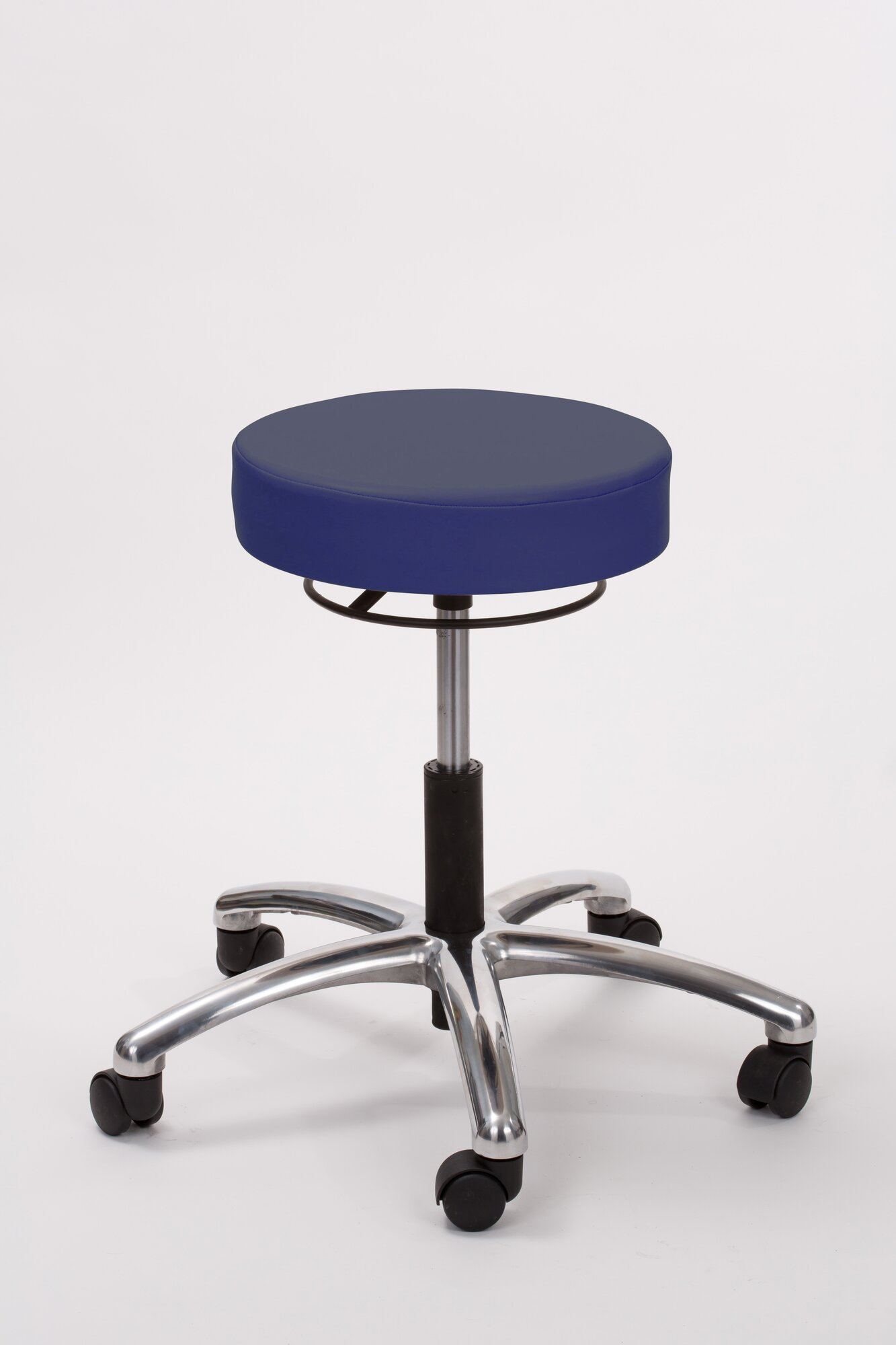 Height Adjusts Brandt Airbuoy Pneumatic Stool With Ring