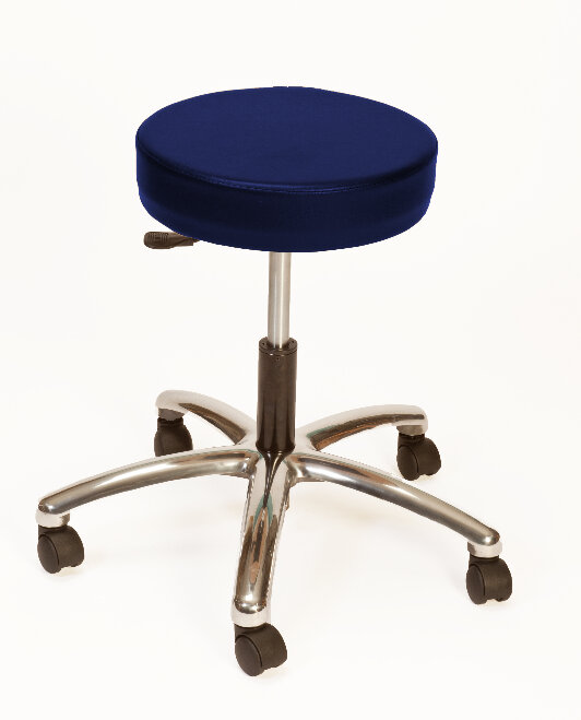 brandt industries height adjustable lab stool with duel wheel navy ebay. Black Bedroom Furniture Sets. Home Design Ideas