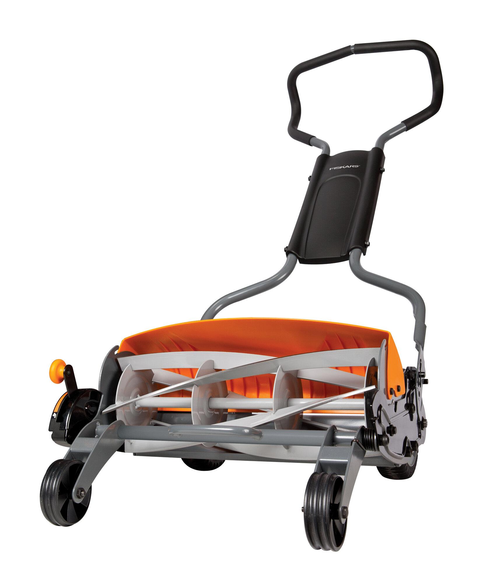 fiskars 18 staysharp max push reel lawn mower ebay. Black Bedroom Furniture Sets. Home Design Ideas