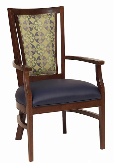 AC Furniture Arm Chair Color: Charcoal, Finish: Medium Lanty Oak