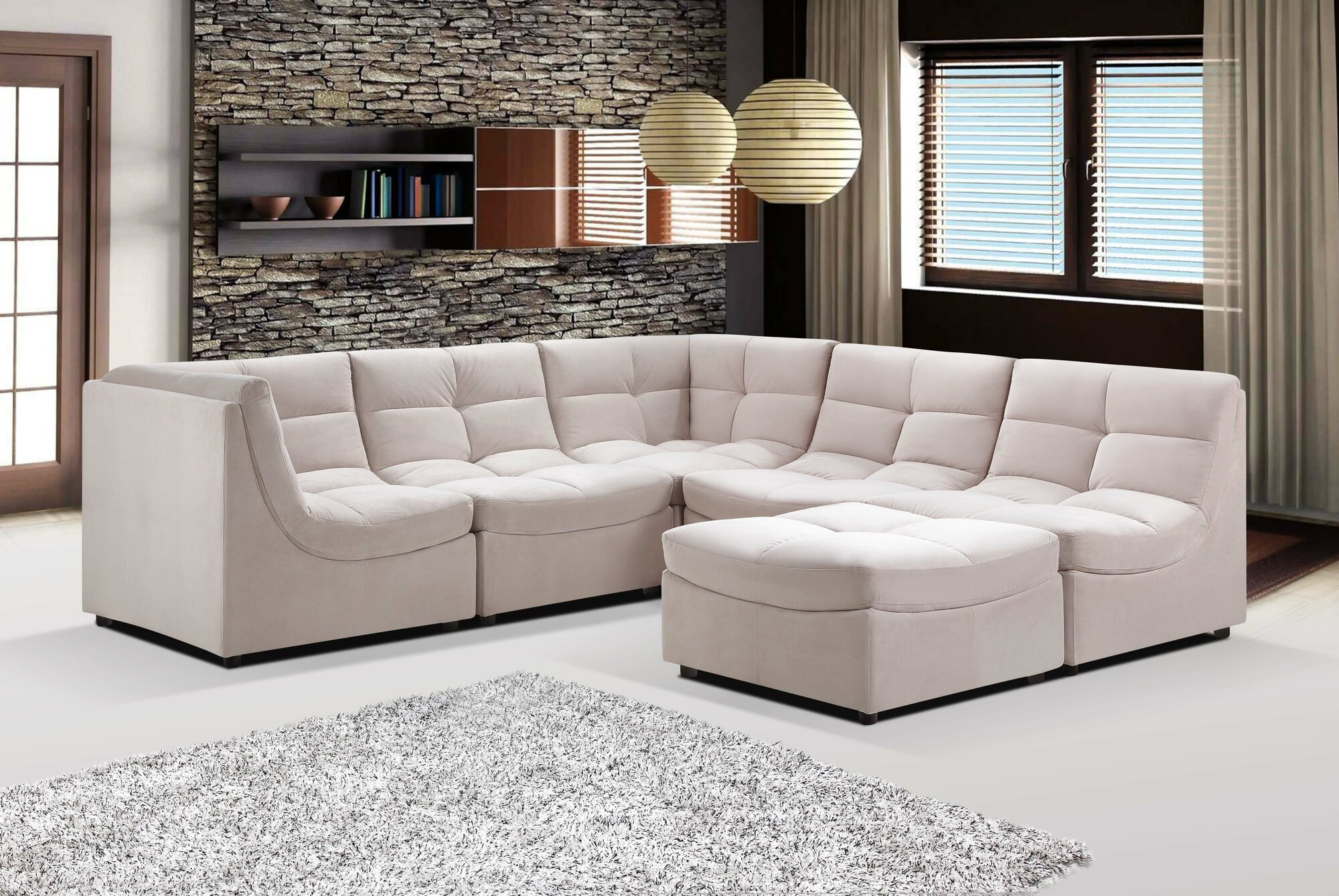 Modern Living Room Modular Sectional Sofa - Buy Sectional ...