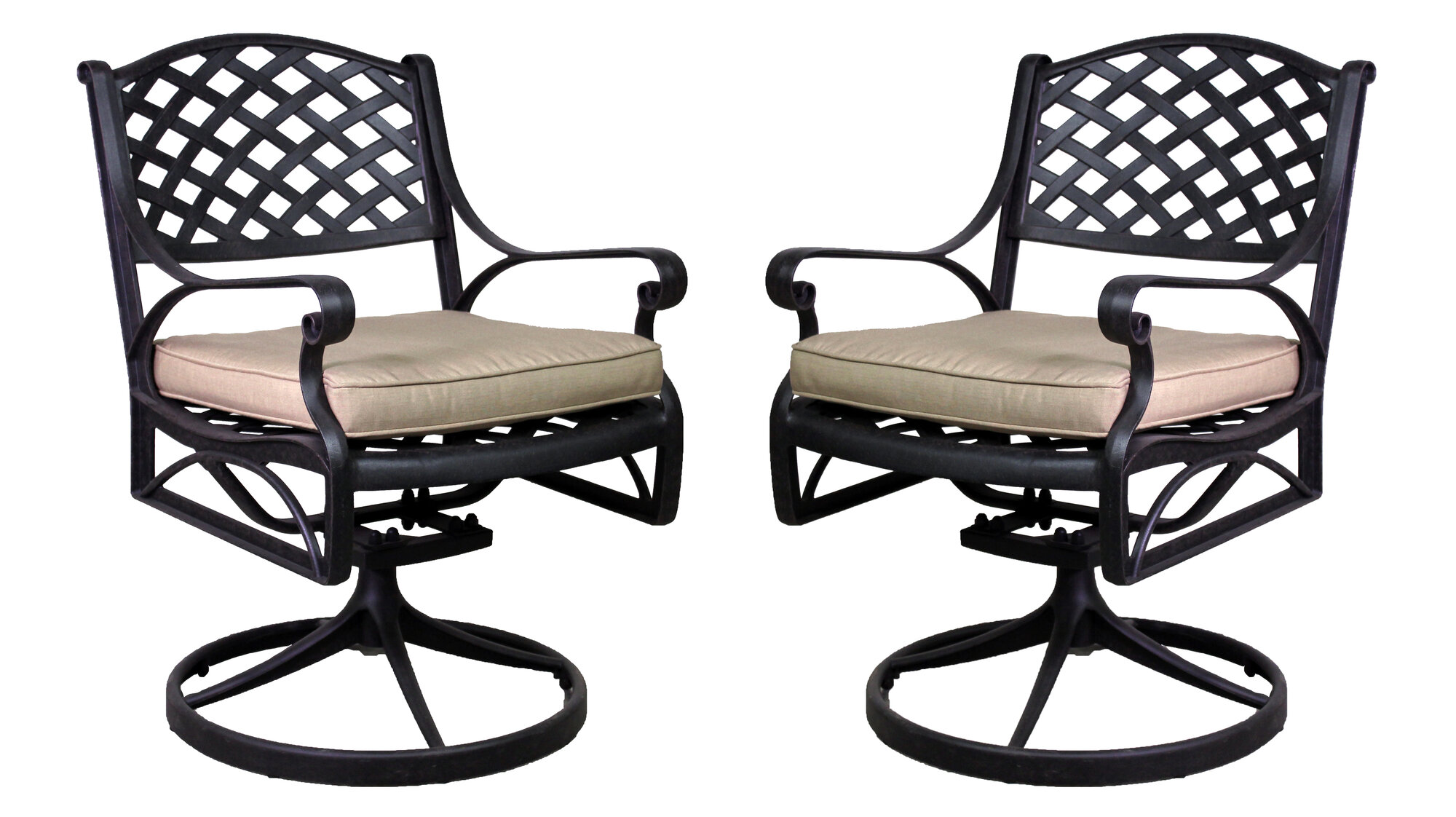 ... Designs La Jolla Swivel Rocker Chair with Cushion Set of 2  eBay