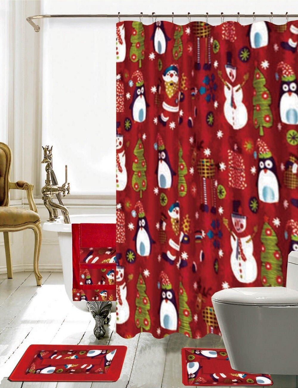 Daniels Bath Christmas Bathroom Decor 18 Piece Shower