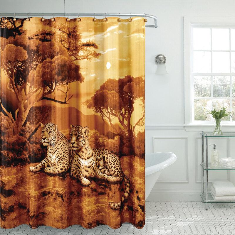 daniels bath fancy cheetah shower curtain