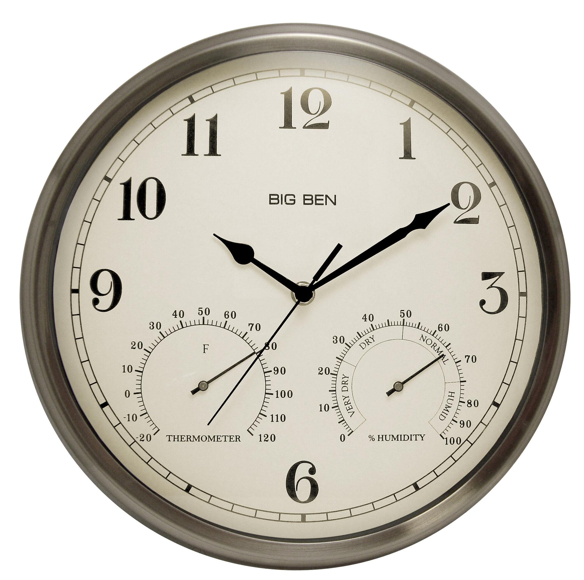 Westclox Clocks Big Ben 12 Quot Round Metal Frame Outdoor Wall