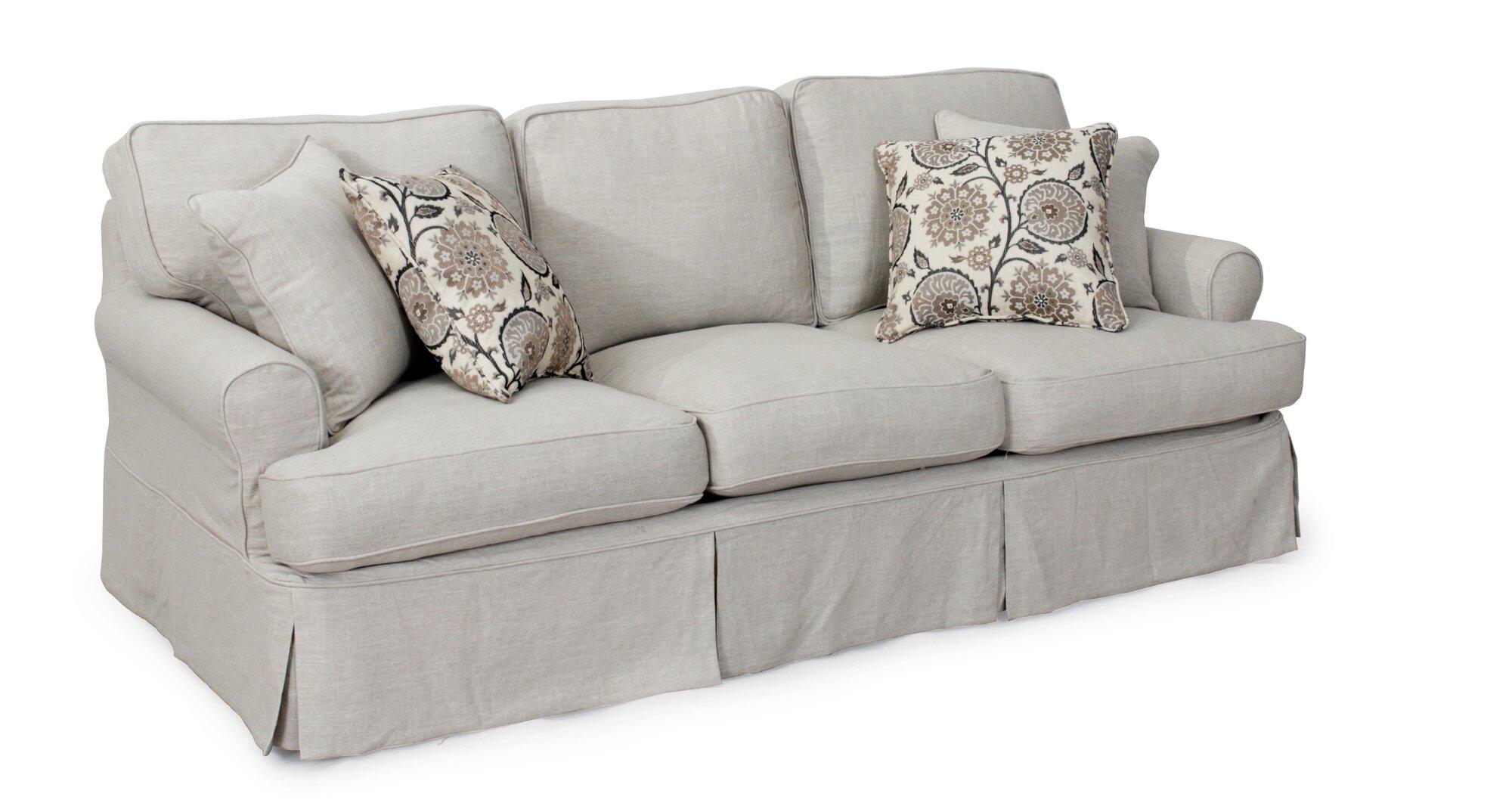August Grove Callie T Cushion Sofa Slipcover Set AGGR1859