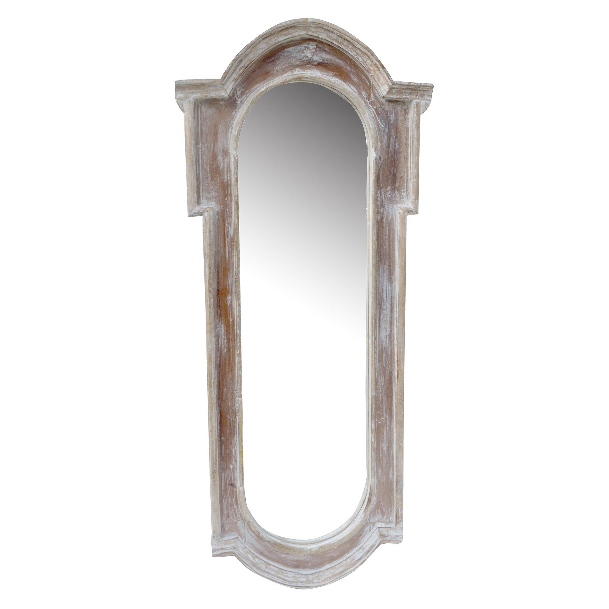 One allium way white antique long mirror ebay for Long antique mirror