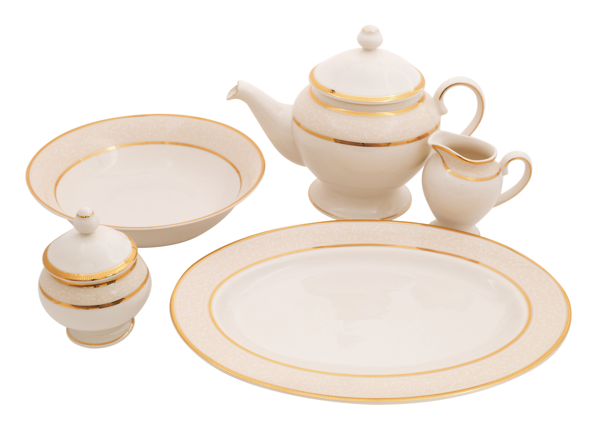 Isabella Cream China Traditional Serving 5 Piece